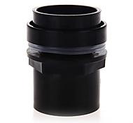 negro de tanque acuario conector de plástico de PVC de 50 mm de accesorios a prueba de agua