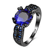 Exaggerated CZ Diamond Engagement Rings Black Plated Cubic Zircon Wedding Jewelry For  Women Anel Finger Ring