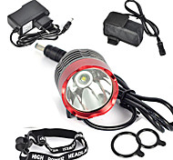 Luci Torce frontali / Luci bici / Luce frontale per bici LED 3000 Lumens 1 Modo Cree XM-L T6 18650 Ultraleggero