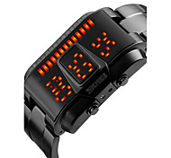 Men's Fashion Watch Digital LED / Calendar / Water Resistant/Water Proof Alloy Band Cool Black / Silver Brand
