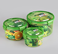 Set of 3 pcs Kitchenware Airtight Plastic Containers with Lid