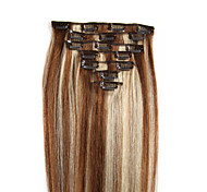 clip in hair extensions brown mixed blond 20-24 inches 100g