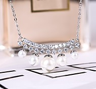 Jewelry Necklaces AAA Cubic Zirconia Wedding / Party / Daily 1set Women Silver Wedding Gifts