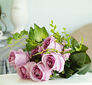 1 1 Ramo Seda Rosas Flor de Mesa Flores artificiais 45CM
