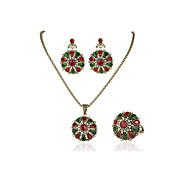 3 Piece Suit Turkish Jewelry Colorfull stone Earrings And Necklace For Women Wedding  beads jewelry crystal jewelry set