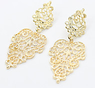 Bohemia New Europe All-match Fashion Earrings Pierced Leaves Earrings