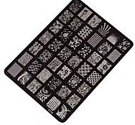самое лучшее дело хорошее качество ногтей штамповки печатной пластины маникюр ногтей декор изображения марки пластины