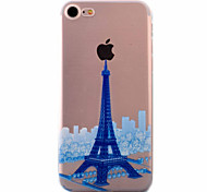For iPhone 7 Case / iPhone 6 Case / iPhone 5 Case Ultra-thin / Pattern Case Back Cover Case Eiffel Tower Soft TPU AppleiPhone 7 Plus /