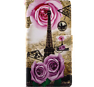 For Sony Xperia X XA Case Cover Tower Pattern Painting PU Leather Material Card Stent for XP XZ