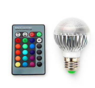 5W E14 / E26/E27 / B22 LED Smart Bulbs G60 1 SMD 5050 680 lm RGB Dimmable / Remote-Controlled / Decorative V 1 pcs
