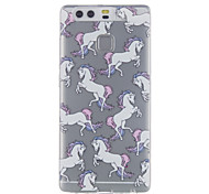 Для huawei p9 p9 lite лошадь рисунок высокая проницаемость tpu материал телефон случай
