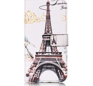 Eiffel Tower Pattern Card Holder PU Leather case For iPhone 7 7 Plus