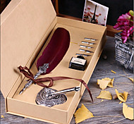 Europe Type Restoring Ancient Ways Feather Pen Gift Set