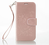 For LG Case Wallet / Card Holder / with Stand / Embossed Case Full Body Case Heart Hard PU Leather LG LG K10 / LG K8