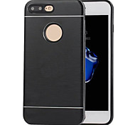 For iPhone 7 Case / iPhone 7 Plus Case / iPhone 6 Case Shockproof Case Back Cover Case Solid Color Hard Metal AppleiPhone 7 Plus / iPhone