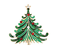 Christmas Tree Brooch Brooch Korean High-Grade Diamond Lady Accessories Collar Christmas Gift