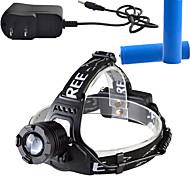 Luci Torce frontali LED 900 Lumens Lumens 3 Modo Cree T6 18650 Dimmerabile / Ricaricabile / Angolare / Ultraleggero
