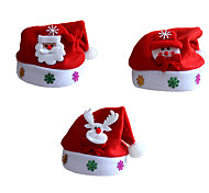 3шт / серия унисекс взрослые дети Санта-Клаус Рождество шляпе Рождество шапки Санта-Клауса для украшения костюма рождества партии
