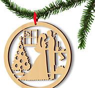 5шт европы и Соединенные Штаты продают деревянные рождественские любители компьютерных лазерных выдалбливают виджетов деревянные украшения