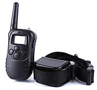 Hunde Bellhalsband Training - Hundhalsbänder Anti Bark Fernbedienung Eletrisch/Elektrisch LCD Vibration 300M Solide Schwarz Plastik