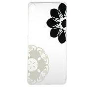 Diagonal Flowers Pattern High Permeability TPU Material Phone Case for  Xperia XA  Xperia E5