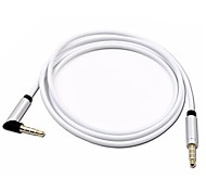 Car AUX 4 Pole Audio Cable MP3/MP4 OR Mobile Phone TO Car CD AUX 90 Degree Angle 3.5mm Male to Male