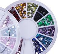 Manicure False Refers to the Domestic Diamond 12 Color Manicure Diamond Drill Drill Nail Box Mobile Phone Beauty