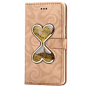 For Samsung Galaxy A5(2016) A3(2016) Flowing Quicksand Liquid Heart Pattern PU leather Case A9 A8 A7 A5 A3