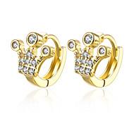 lureme Fine Jewelry 18K Gold Fashion Charms Zircon Diamond Earrings