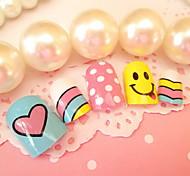 unghie prodotti di arte 24 pezzi di unghia unghie colorate rattoppare l'arcobaleno