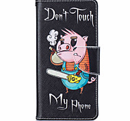 Piggy Pattern Leather PU Leather Material Leather Phone Case for  Huawei P9 P9 Lite  Y5II  Y6II 5A
