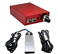 Solong Tattoo Double Output Digital Tattoo Power Supply  Foot Pedal  Clip Cord Kit P103-2