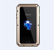 Назначение Кейс для iPhone 7 Кейс для iPhone 6 Кейс для iPhone 5 Чехлы панели Защита от удара Чехол Кейс для броня Твердый Металл для