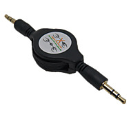 Stereo 3.5mm Retractable AUX Cable Car Audio AUX Cord MP3 iPod for iPhone