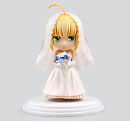 Fate/stay night Saber Lily PVC 6cm Anime Action-Figuren Modell Spielzeug Puppe Spielzeug
