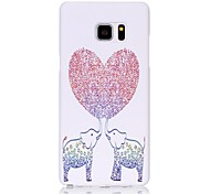 For Samsung Galaxy Note 5 Edge Back Cover Frosted Embossed Pattern Elephant PC Hard Case Cover