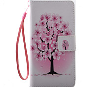 For Sony Xperia X XA Case Cover Flower Tree Pattern Painting PU Leather Material Card Stent for XP XZ