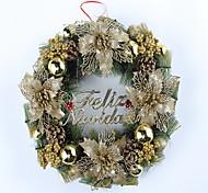 Corona de Navidad de color oro