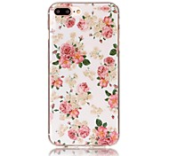Pink Flowers Pattern HD Painted TPU Material Phone Shell For iPhone 7 7 Plus 6s 6 Plus