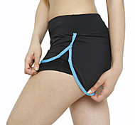 Women's Sexy Elastic Quick Dry Sports Fitness Running Shorts with Safety Pants