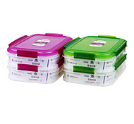 grau alimentício pp congelador recipientes empilháveis refeição