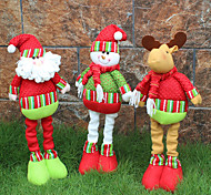 1cover3pcs) 3different styles d'ornement de Noël dernier cri ont une couverture humeur festive des couteaux et des fourchettes de noël
