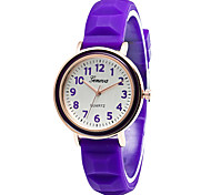 XU Women Fashion Color Jelly Leisure Watch