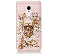For Glow in the Dark / Translucent Case Back Cover Case Skull Soft TPU Xiaomi Redmi Note 4 Redmi Pro
