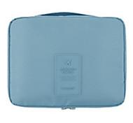 Makeup Storage Cosmetic Bag / Makeup Storage Nylon Solid 21*13*5 Blue