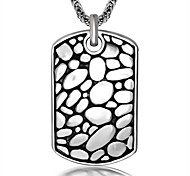 Ожерелье Без камня Бижутерия Повседневные В виде подвески Титановая сталь Мужчины 1 пара Подарок Серебряный