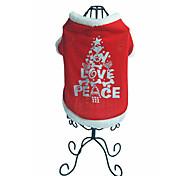 Perros Suéteres Rojo Ropa para Perro Invierno Letra y Número Navidad