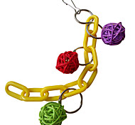 Random Colors Portable Plastic Bird Toys 1pc