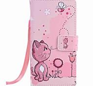 Для huawei p9 lite p8 lite кошки и пчела покраска pu phone case