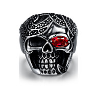 Ring Stainless Steel Skull / Skeleton Punk Silver Jewelry Halloween Daily Casual Sports 1pc